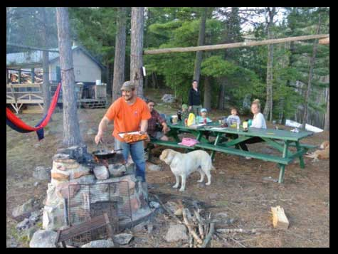 Great spot for a fish fry...trout Fish fry at Blue Fox Outpost