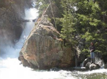 Waterfalls into the Little White River are only a 15 minute walk from Blue Fox Outpost trout