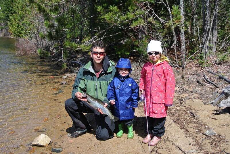 Rainbow trout fishing at Blue Fox Camp Ontario