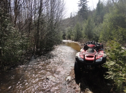 ATV exploring at Blue Fox