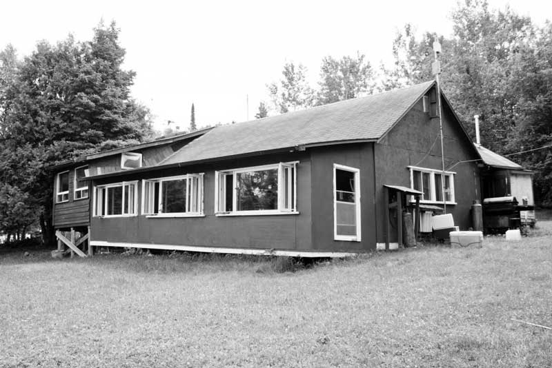 cabin at Blue Lake Camp - trout fishing lodge on Kirkpatrick Lake