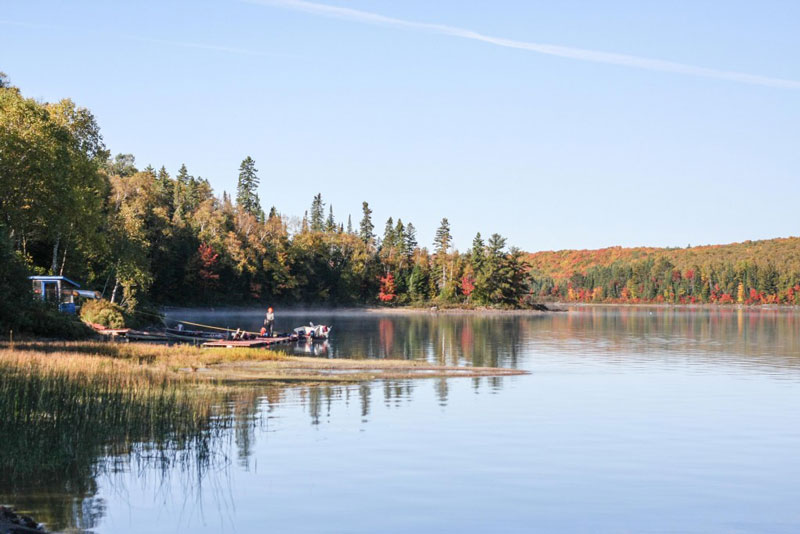 autumn fishing at Blue Lake Camp - trout fishing lodge on Lake Kirkpatrick