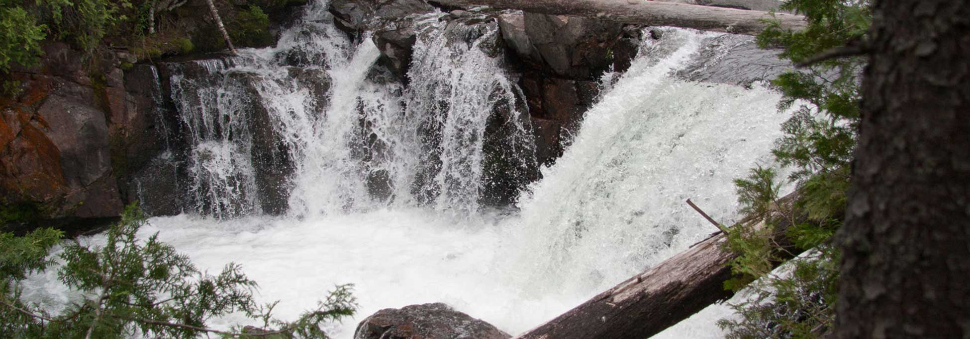 waterfalls at trout fishing camp and lodge ontario