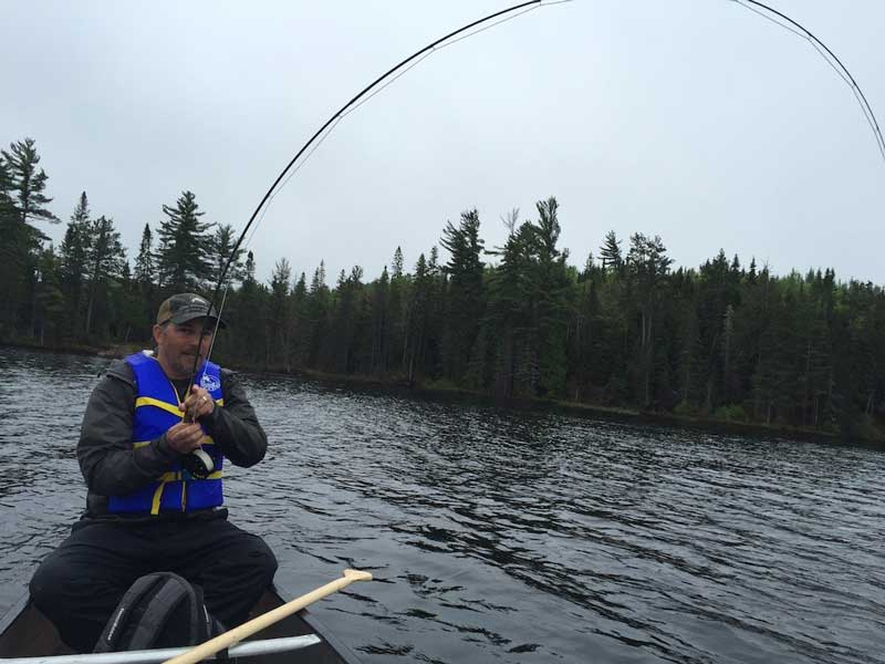 Lake trout fishing at Blue Fox Camp Ontario