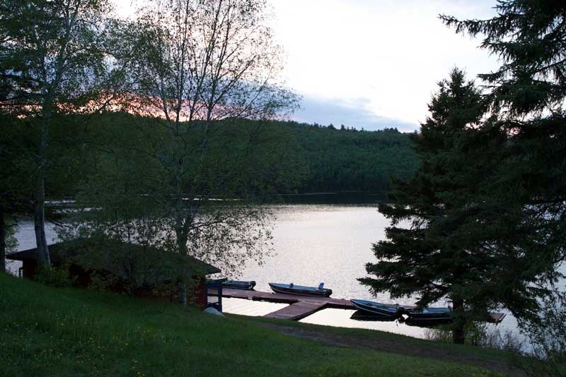 View of Kirkpatrick Lake from Blue Fox Camp