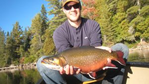 Back lake Brook trout at Blue Fox