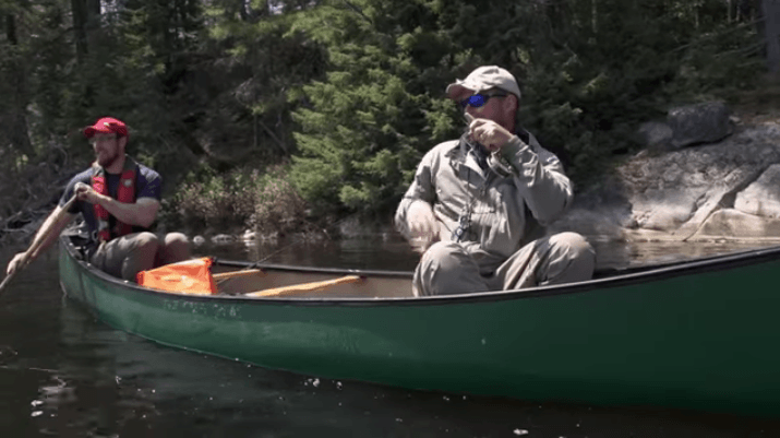 trout fishing canoe